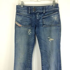 DIESEL INDUSTRY | Cotton L-Rise Distressed Jeans